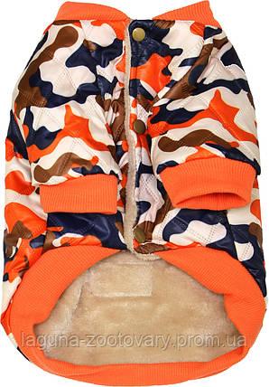 Куртка ХАНТЕР для собак, размеры S, M, L, XL, хаки /оранжевый, фото 2