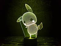 """Сменная пластина для 3D ламп """"Пикачу"""" 3DTOYSLAMP, фото 1"""