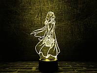 """Сменная пластина для 3D светильников """"Белоснежка"""" 3DTOYSLAMP, фото 1"""