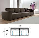 Итальянский модульный диван Byron с выдвижными подушками сиденья фабрика Felis, фото 2