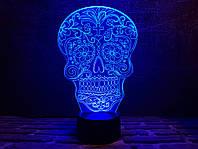 """Сменная пластина для 3D светильников """"Череп 2"""" 3DTOYSLAMP, фото 1"""