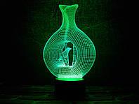 """Сменная пластина для 3D светильников """"Птица в клетке"""" 3DTOYSLAMP, фото 1"""