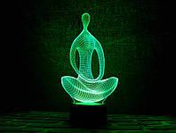 """Сменная пластина для 3D светильников """"Медитация"""" 3DTOYSLAMP, фото 1"""