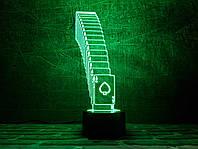 """Сменная пластина для 3D светильников """"Тузы"""" 3DTOYSLAMP, фото 1"""