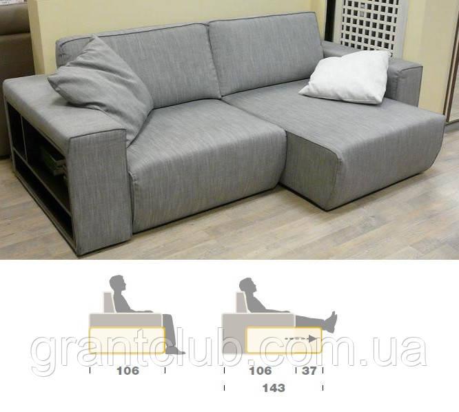 Итальянский модульный диван Byron с выдвижными подушками сиденья фабрика Felis