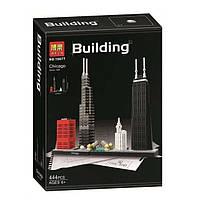 """Конструктор Bela 10677 (Аналог Lego Architecture 21033) """"Чикаго"""" 444 детали"""