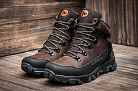 Зимние мужские кожаные ботинки теплые Merrell коричневые 40 41 42 43 44 45