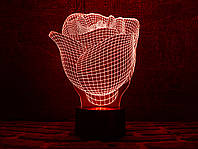 """Сменная пластина для 3D светильников  """"Роза"""" 3DTOYSLAMP, фото 1"""