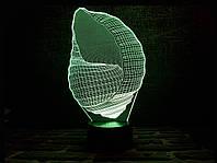 """Сменная пластина для 3D светильников """"Ракушка"""" 3DTOYSLAMP, фото 1"""