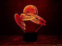 """Сменная пластина для 3D светильников """"Космический корабль 2"""" 3DTOYSLAMP, фото 1"""