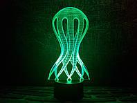 "Сменная пластина для 3D ночника ""Медуза"" 3DTOYSLAMP, фото 1"