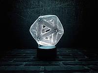 "Сменная пластина для 3D ночника ""Икосаэдр"" 3DTOYSLAMP, фото 1"