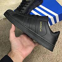 Кроссовки Adidas Superstar Total Black   реплика, фото 1