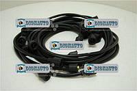 Провода высокого напряжения ЗИЛ 130 черные силикон (9шт) (бронепровода) ЗИЛ 131 (130Т-3707078-В)