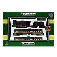 Детская железная дорога на батарейках Fenfa поезд и 3 вагона