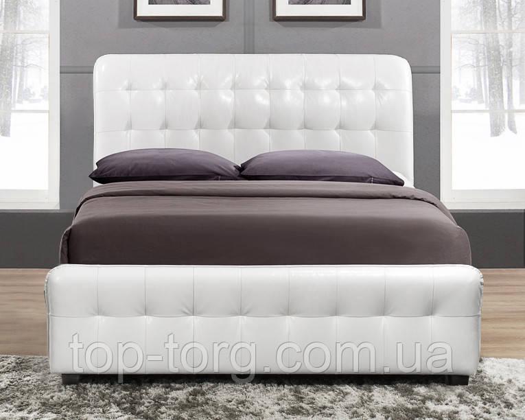 Ліжко Камалія 1600х2000 кремова (слонова кістка / беж / бежевий), двоспальне