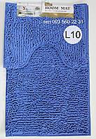 Набор ковриков в ванную комнату Лапша (Лазурно-синий)