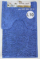 Набор ковриков в ванную комнату Лапша (Лазурно-синий), фото 1