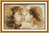 Детский поцелуй Набор для вышивки крестом