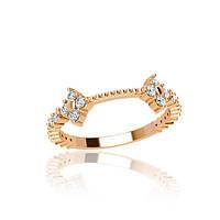 Золотое кольцо с фианитами гп21052
