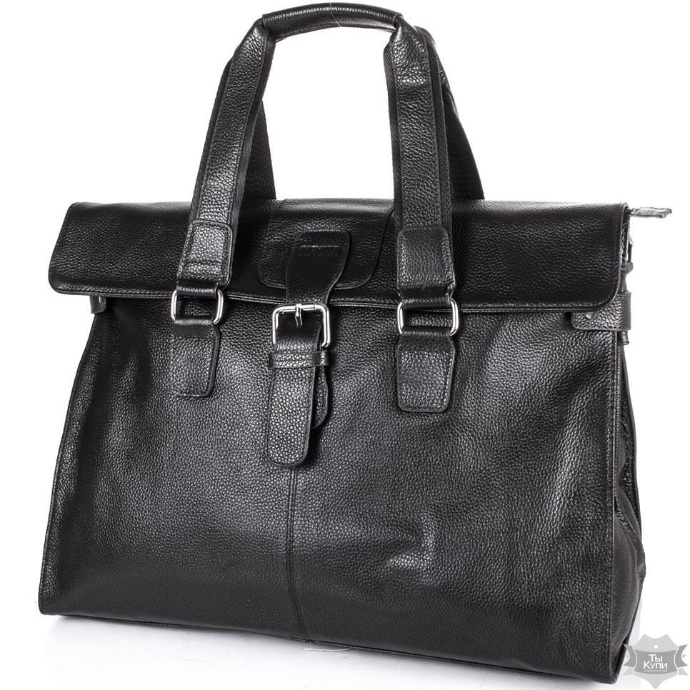 1dc685fc701e Мужской кожаный черный портфель TOFIONNO tu8649-black - Интернет-магазин  одежды, обуви и