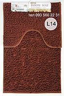 Набор ковриков в ванную комнату Лапша (Каштановый)