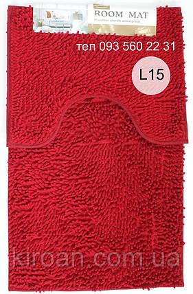 Набор ковриков в ванную комнату Лапша (Гранатовый), фото 2