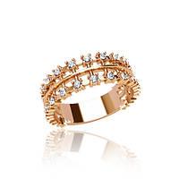 Золотое кольцо с фианитом гп20911
