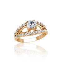 Помолвочное золотое кольцо с фианитами гп21132