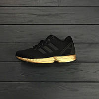 693c530ad5a8 Кроссовки Adidas ZX Flux Black gold. Живое фото. Топ качество (Реплика ААА