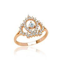 Золотое кольцо с фианитами  гп21150