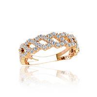 Золотое кольцо с фианитами гп21080