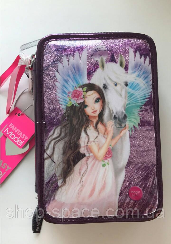 Пенал Top Model Весна Фантазия с LED-светодиодами (фиолетовый)