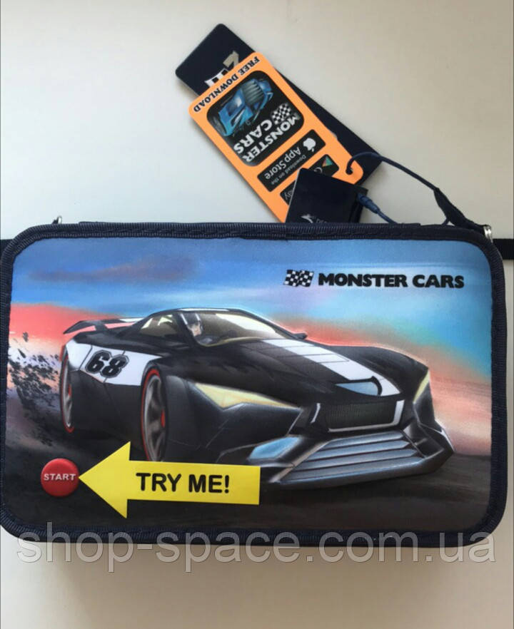 Пенал Top Model Monster Cars LED с наполнением