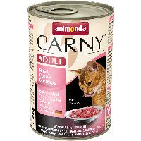 """Консервы Carny Adult """"С говядиной, индейкой и креветками"""" 11,5/6,5 (для взрослых кошек), 400г"""