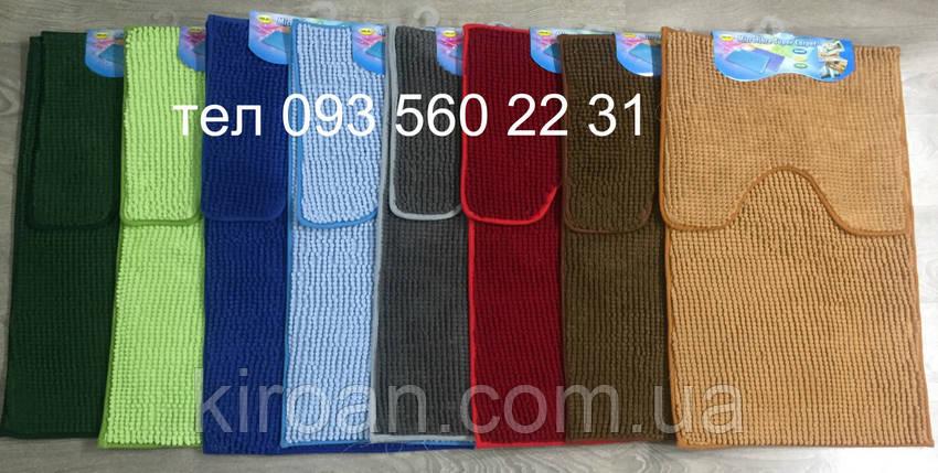 """Комплект ковриков из микрофибры """"Короткая лапша"""" (Салатовый), фото 2"""
