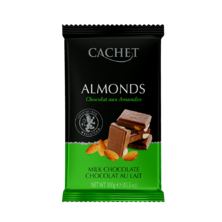 Шоколад с миндалем CACHET, 300 грамм