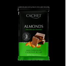 Шоколад з мигдалем CACHET, 300 грам