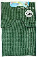 """Комплект ковриков из микрофибры """"Короткая лапша"""" (Тёмно-зелёный), фото 1"""