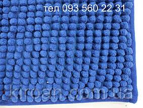 """Комплект ковриков из микрофибры """"Короткая лапша"""" (Синий), фото 2"""