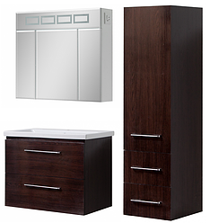 Комплект мебели для ванной подвесной Квадро 80