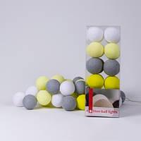 Хлопковая гирлянда Yellow Stone 20 шариков