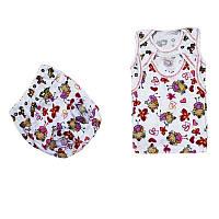 Детский комплект майка и трусики под памперс 62 68 74 80 размер