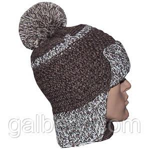 Зимняя шапка ручной работы с помпоном