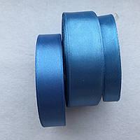 Атласная лента.тм.голубой 12
