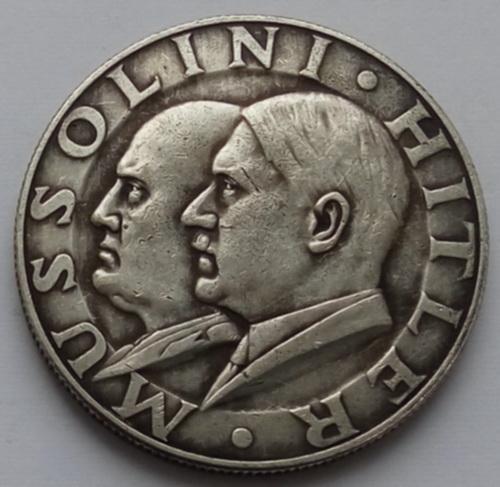 Германия. Третий Рейх. памятная медаль Гитлер-Муссолини. Встреча на государственном уровне.