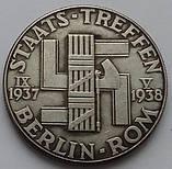 Германия. Третий Рейх. памятная медаль Гитлер-Муссолини. Встреча на государственном уровне., фото 2