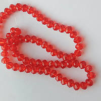 Бусины красные хрустальные 8 мм 72 шт