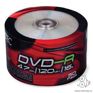 Диск Emtec DVD-R 4,7 GB 16x Shrink/50