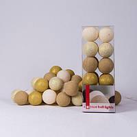 Хлопковая гирлянда Gold Mix 20 шариков